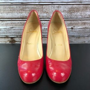 Christian Louboutins Red Bottoms Pink High Heels